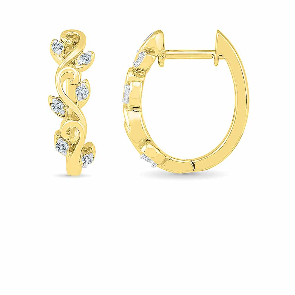 Lilly Diamond Hoops