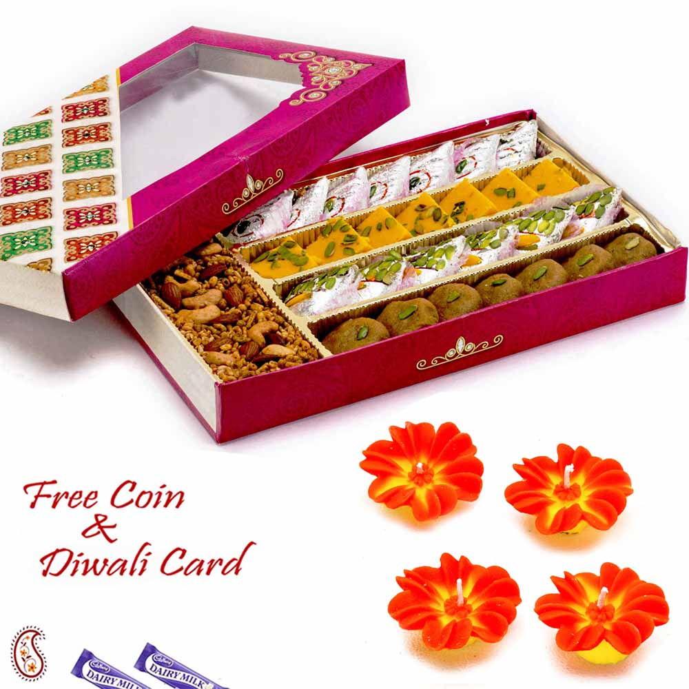 Mithai Boxes-Premium Assorted Sweets & Namkeen Pack