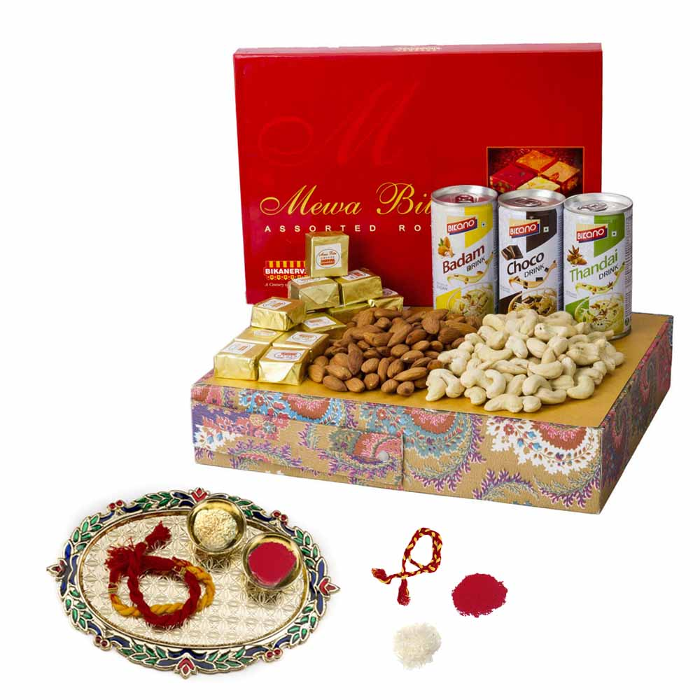 Bhai Dooj Gifts-Bikanervala Badam Choco Thandai Nutty Bhai Dooj Hamper