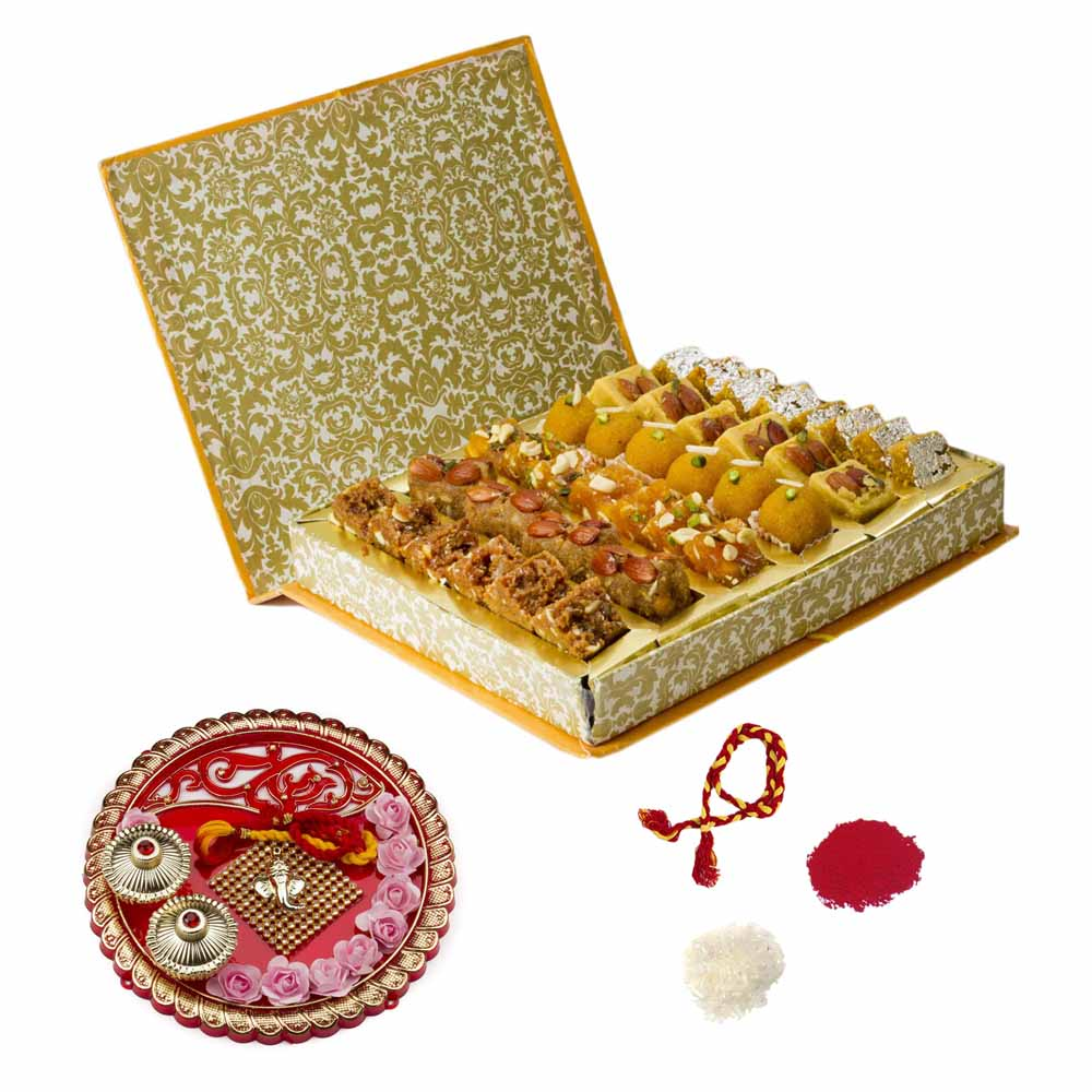 Bikanervala Bhai Dooj Thali n Traditional Sweets Hamper for 2 brothers