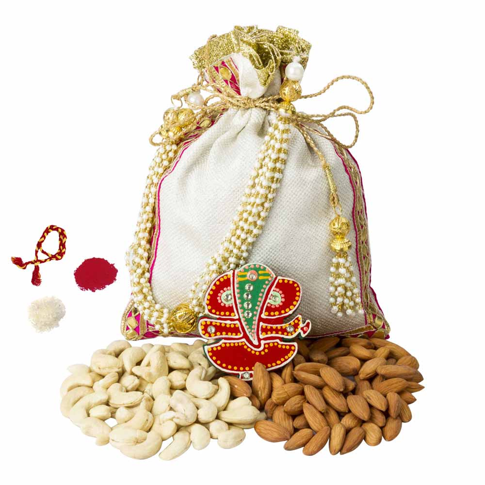 Bhai Dooj Gifts-Nature's Bounty Bhai Dooj Potli
