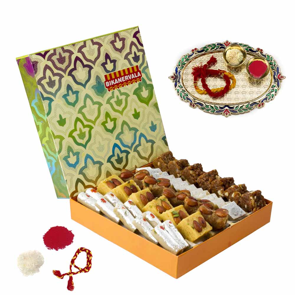 Bikanervala Traditional Bhai Dooj Abundance for 2 brothers