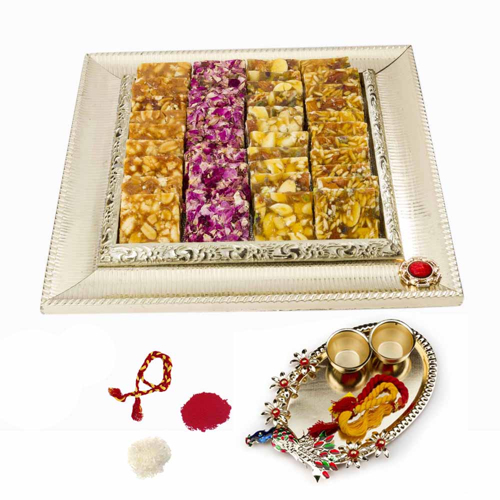 Bhai Dooj Gifts-Bikanervala Assorted Chikki mix with Bhai Dooj for 2 brothers