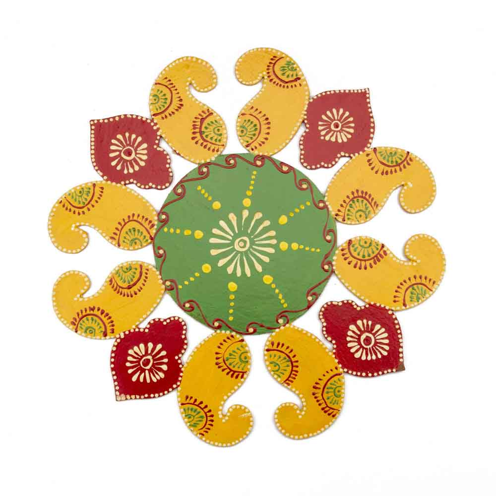 Gift Handpainted Floweing Rangoli on Diwali