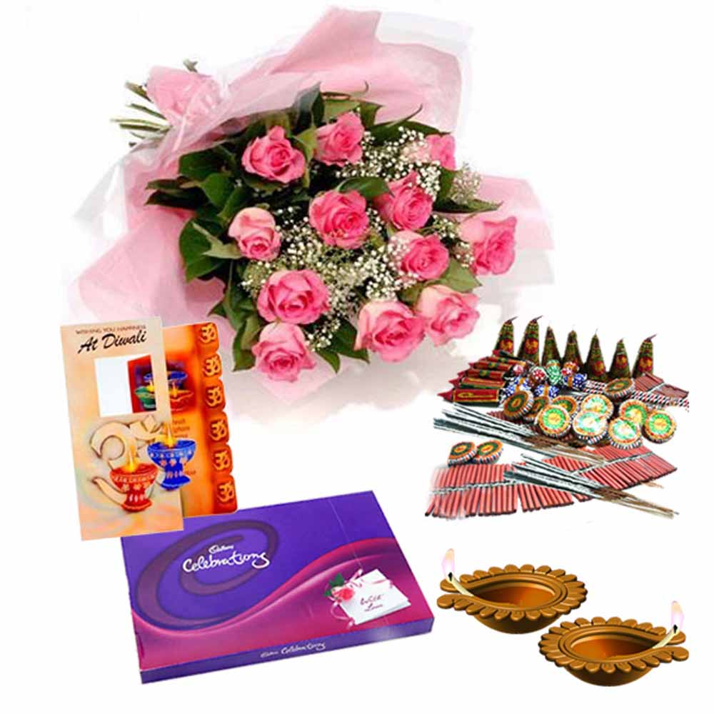 Flowers with Chocolates-Big Diwali Celebration Gift !