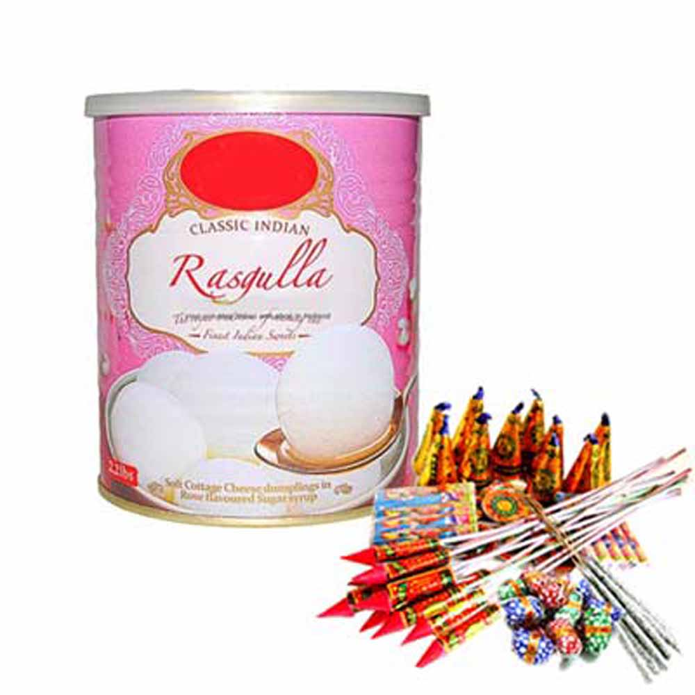 Crackers & More..-Diwali Treat of Rasgullas and Firecrackers