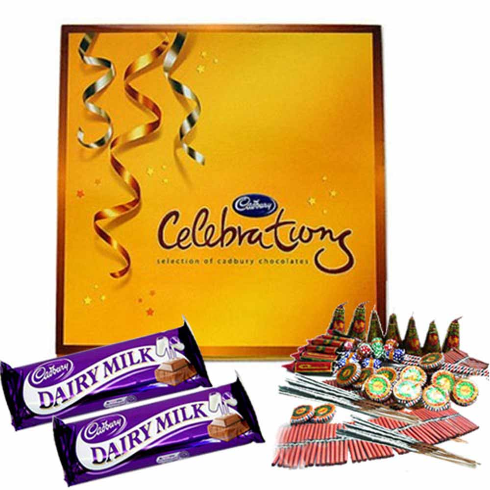 Crackers & More..-Diwali Hamper of Chocolates and Crackers