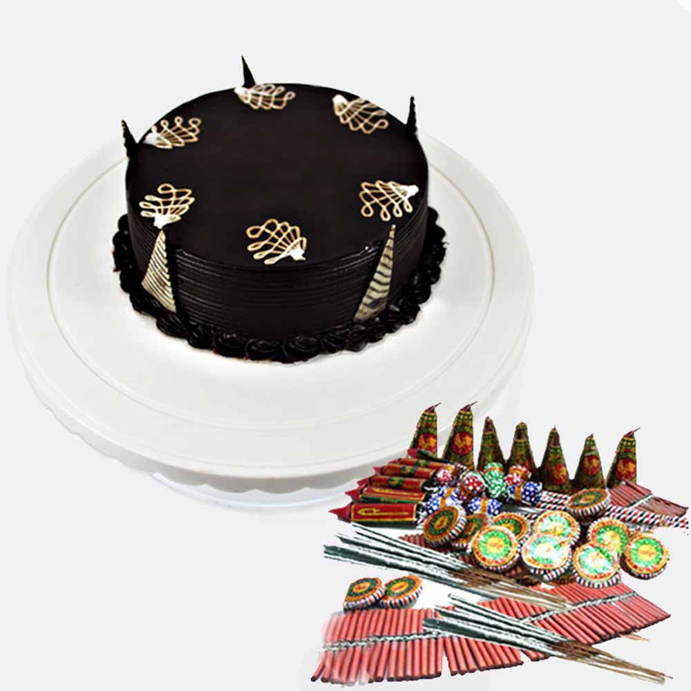 Crackers & More..-Diwali Cake with Crackers