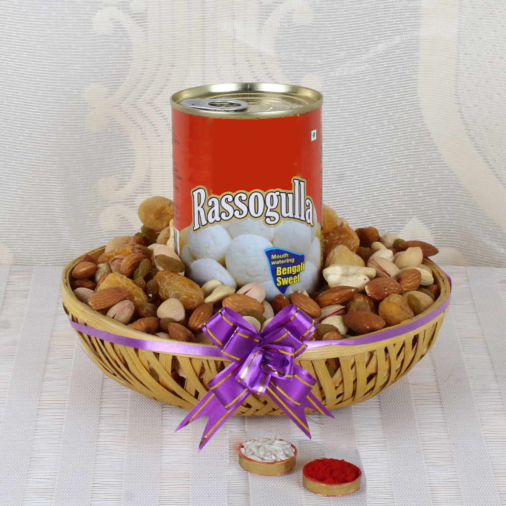 Assorted Dry fruit Basket for Bhaiya Dooj