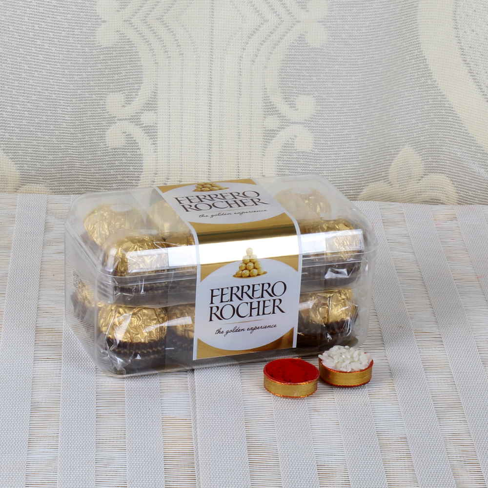 Dry Fruits-Bhai Dooj Same Day Delivery of Rocher Chocolates