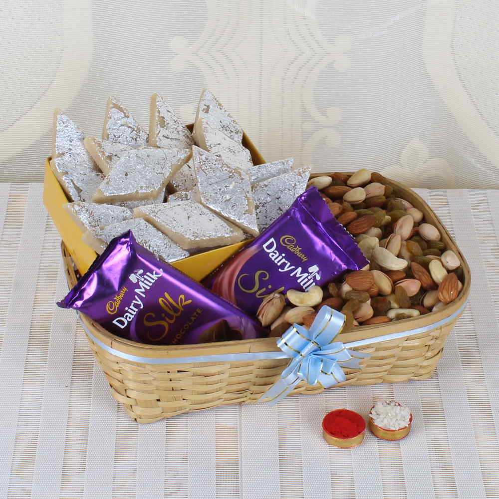 Dry Fruits-Same Day Delivery of Bhai Dooj Gift Basket