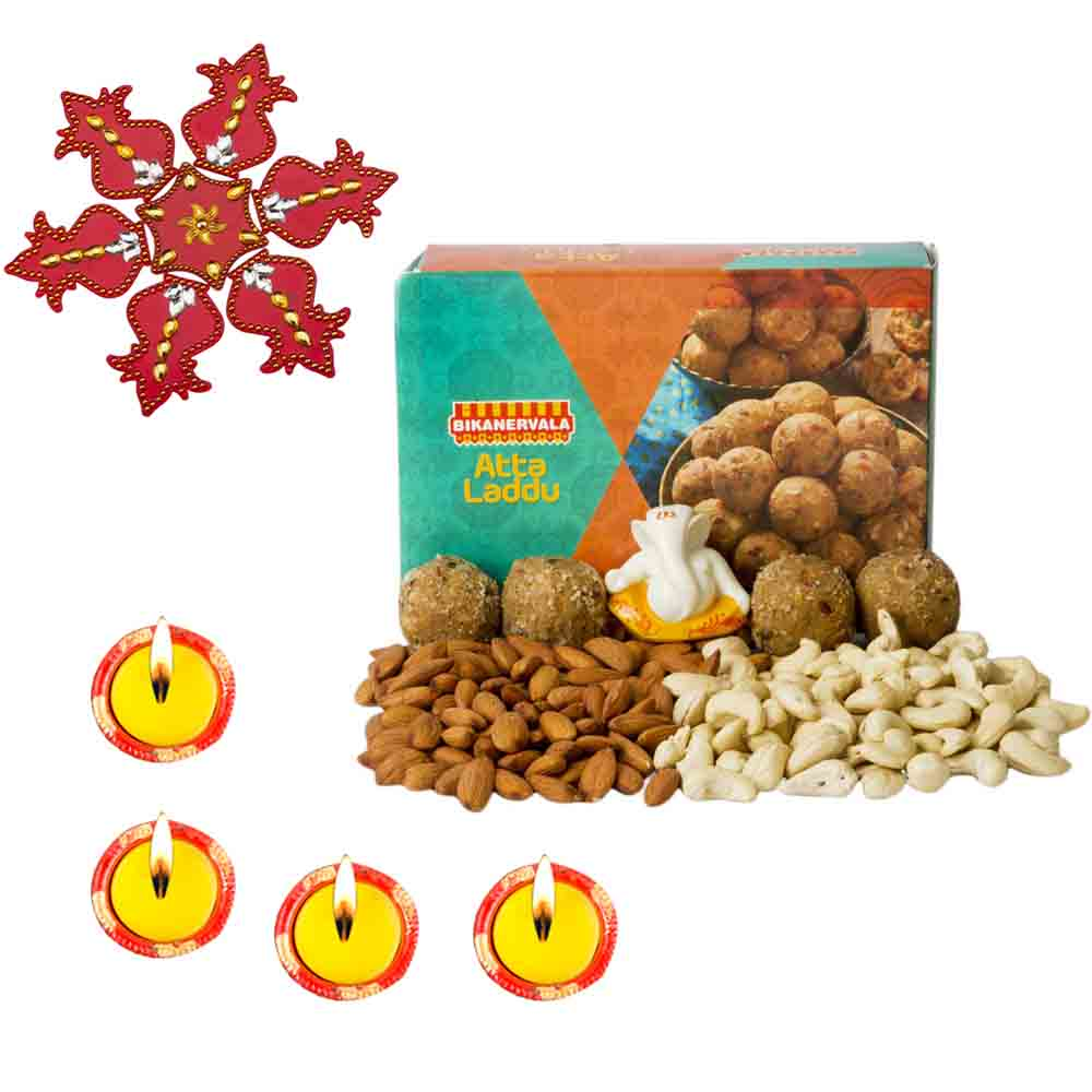 Diwali Hampers-Bikanervala Nutty Atta Laddoo Diwali Hamper