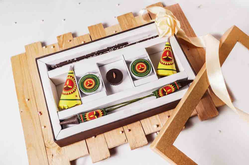 Diwali Chocolate Crackers Box of 9