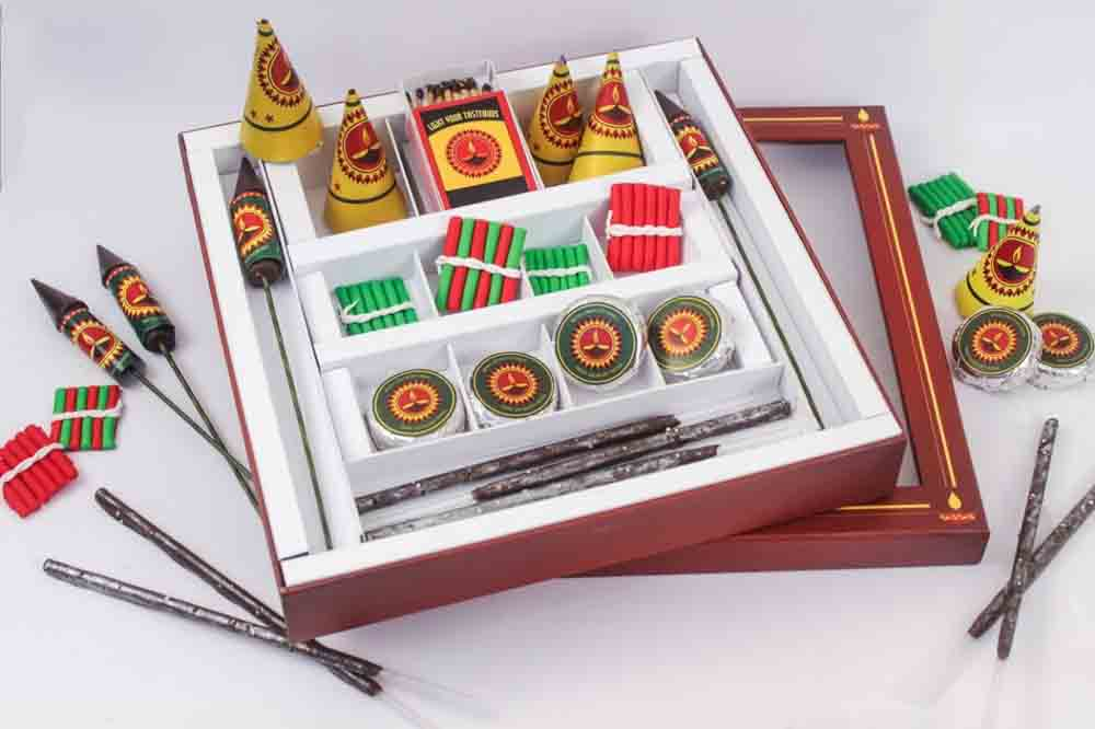 Diwali Chocolate Crackers Box of 21