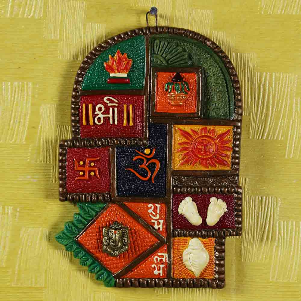 Multicolour Handcrafted Terracotta Wall hanging