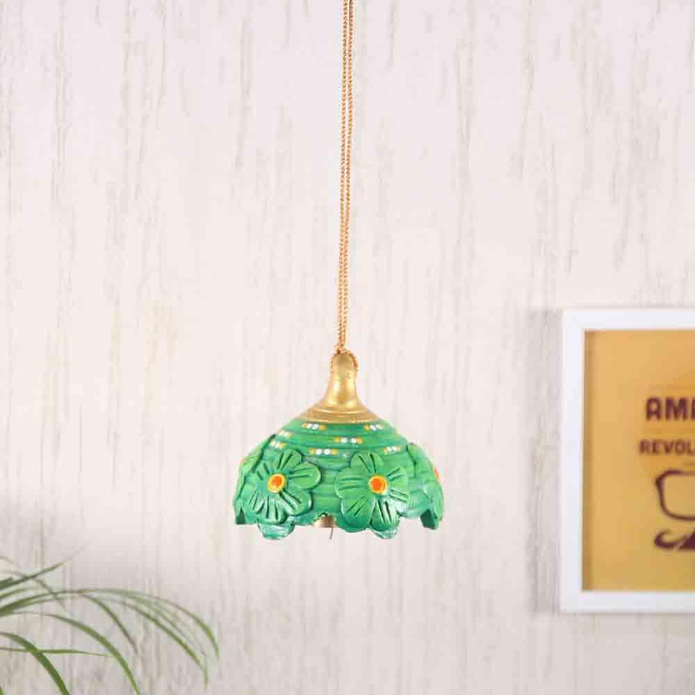 Green Bell Hanging for Diwali Decoration