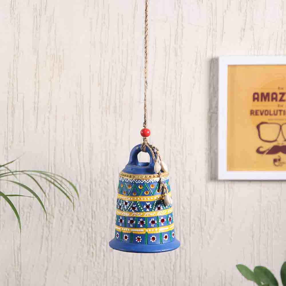 Torans & Wall Hanging-Blue Bell Hanging for Diwali Decoration