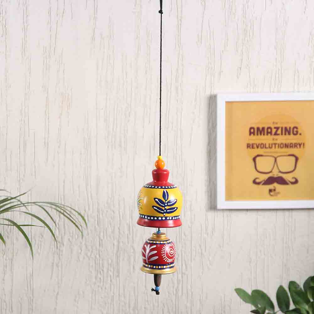 Red & Yellow Bell Hanging for Diwali Decoration