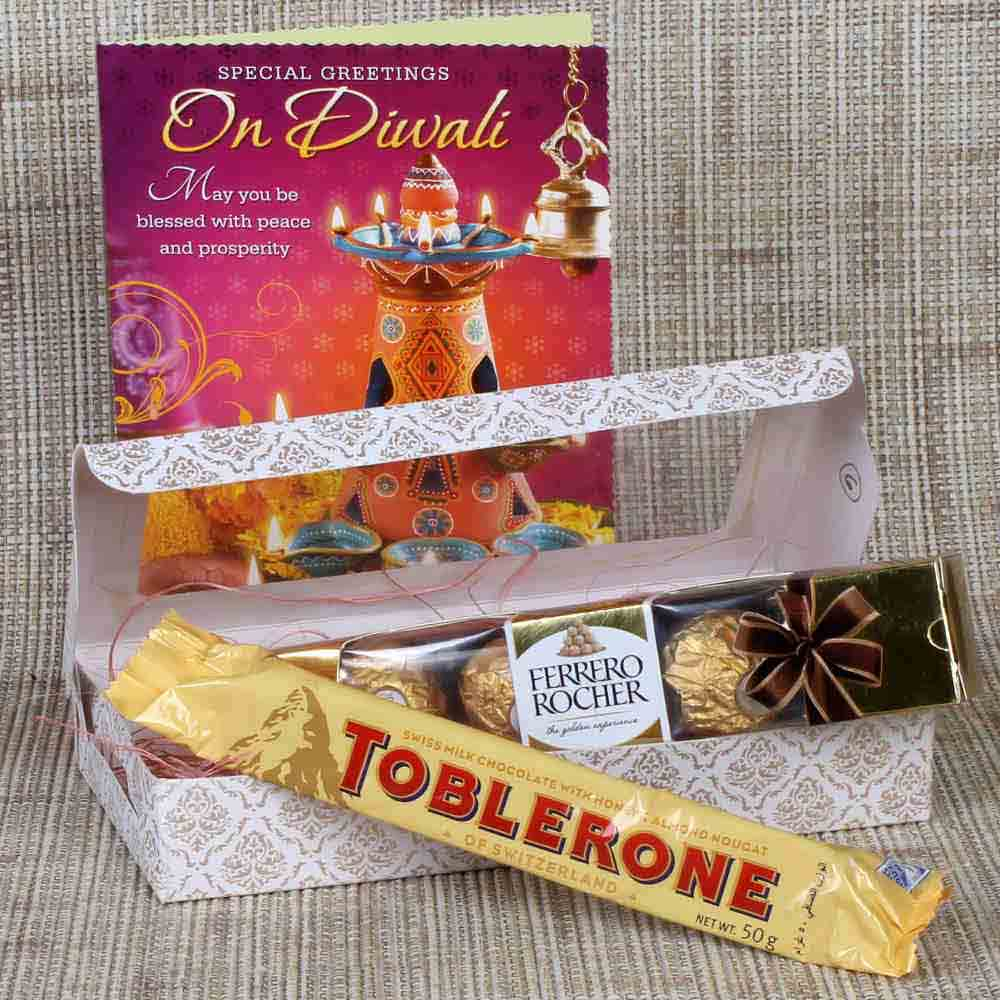 Ferrero Rocher and Toblerone with Greeting Card