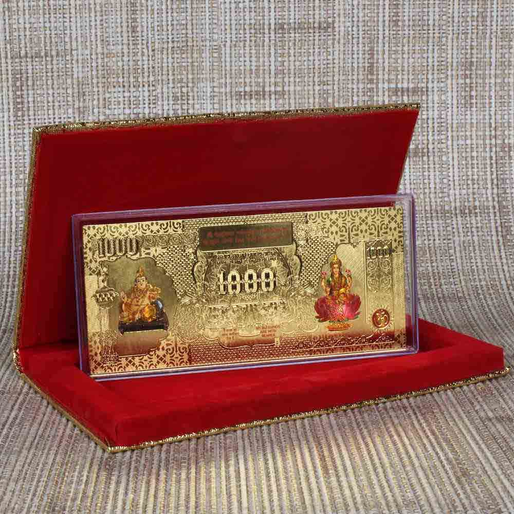 Kuber Laxmi Golden Plated Note