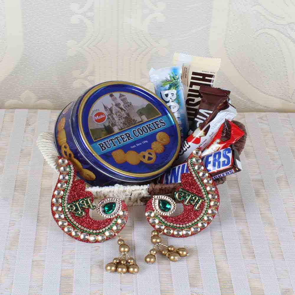Imported Chocolate with Cookies and Shubh Labh Hanging