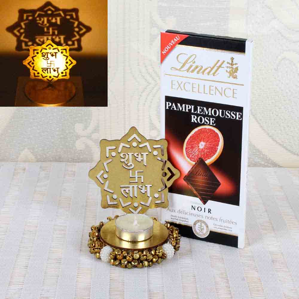 Lindt Excellence Chocolate with Shadow Diya