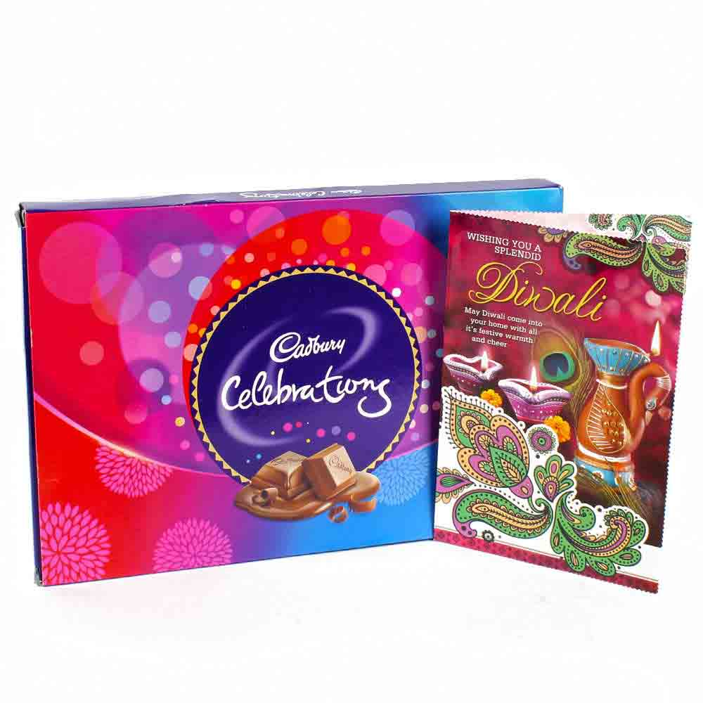 Simple Diwali Chocolate and Card Hamper