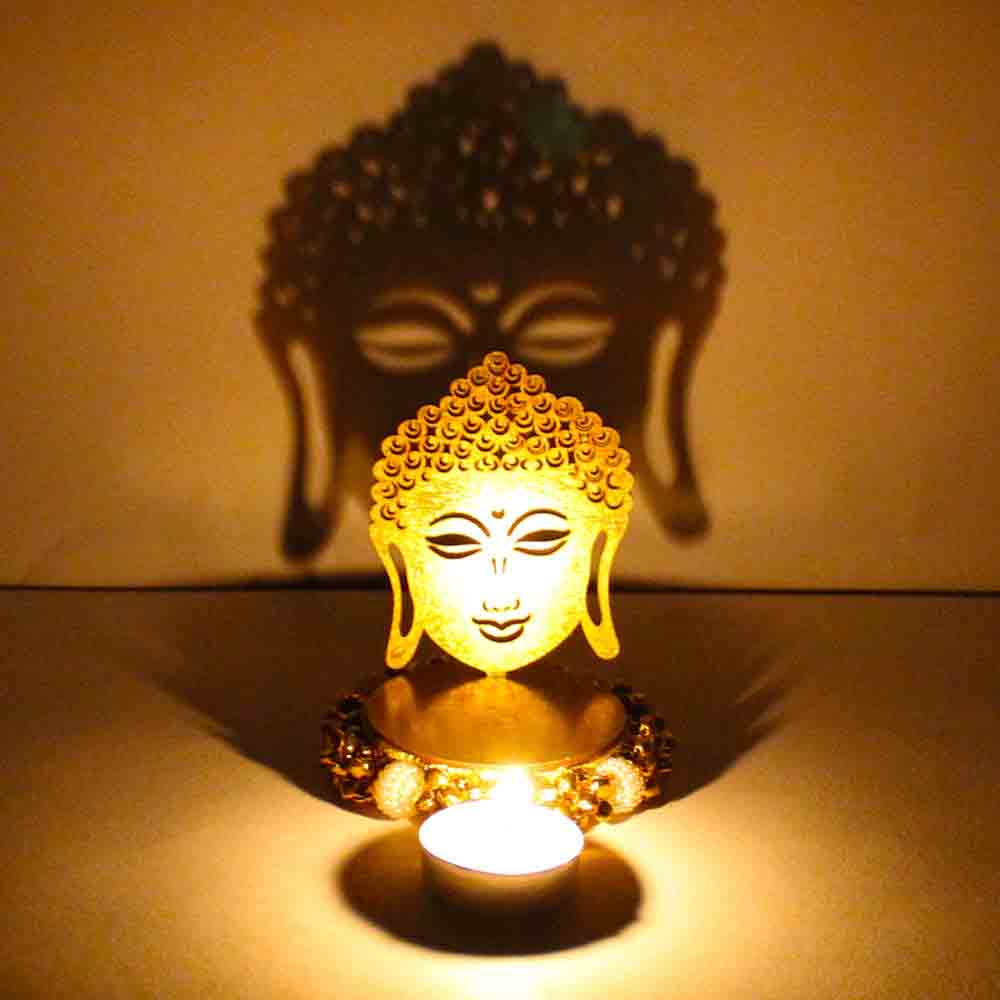Exclusive Shadow Diya Tealight Candle Holder of Removable Buddha