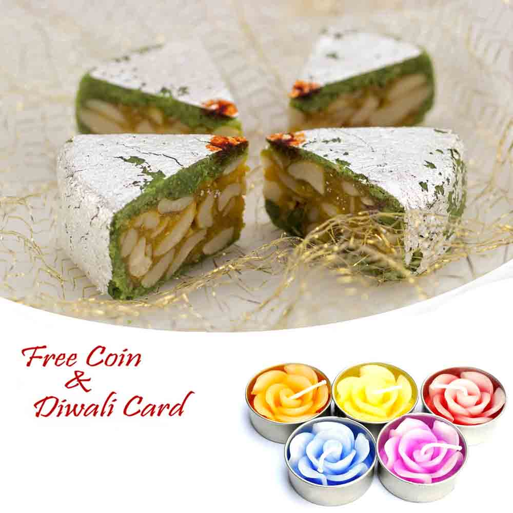 Diamond Cake Sweet with 5pc Floating Diyas