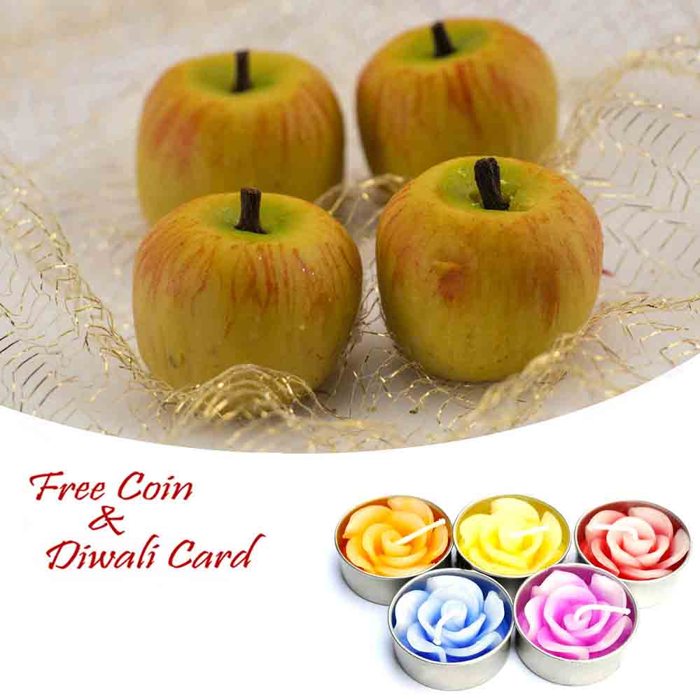 Kaju Apple Sweet with 5pc Floating Diyas