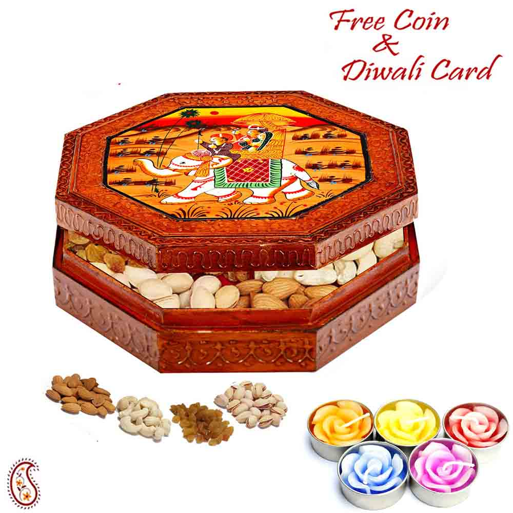 Designer Dryfruit Box with Diwali