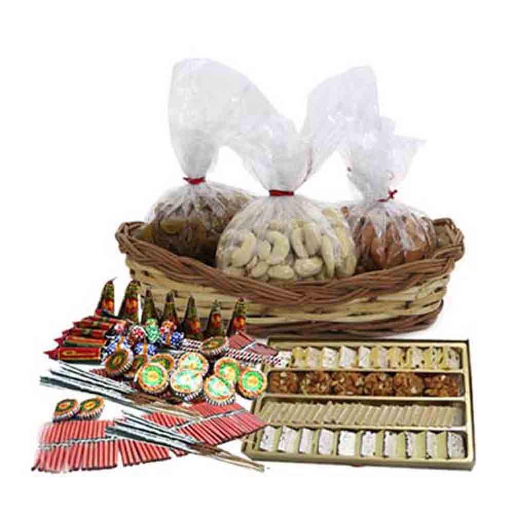 Sweet with Dryfruits and Diwali Firecracker Combo