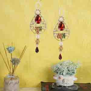 Other Diwali Gifts-Beautiful Subh Labh Door Hanging