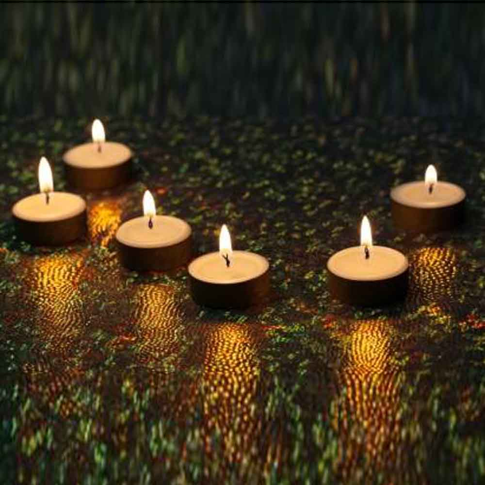 White Elegant Wax Tealights for Diwali