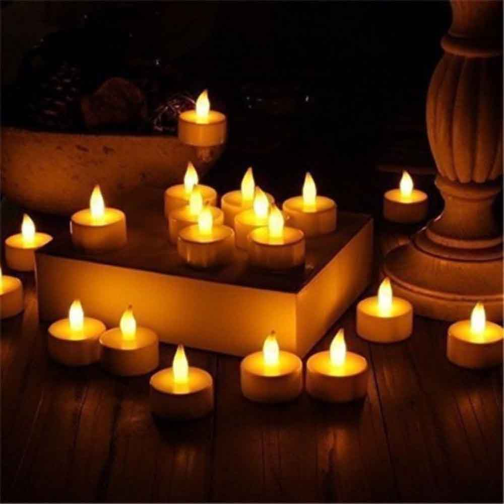 Simple & Elegant Battery Operated Tealights- (Set of 6)
