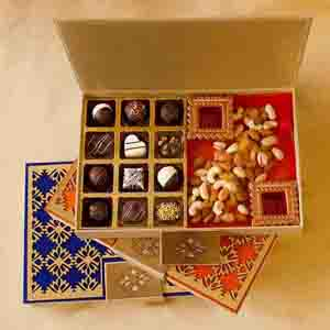 Chocolate & Cookies-Luxury Chocolate Truffles and Dry Fruits box