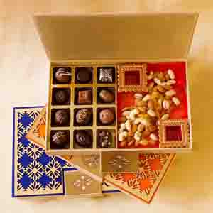 Chocolate & Cookies-Assorted Truffles and Dry Fruits Designer Joy