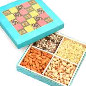 Chocolate & Cookies-Blue Colour Print Hamper box