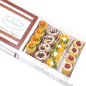 Diwali Mithai Boxes-Assorted Box of Anjeer Basket and Almond Basket 400 gms