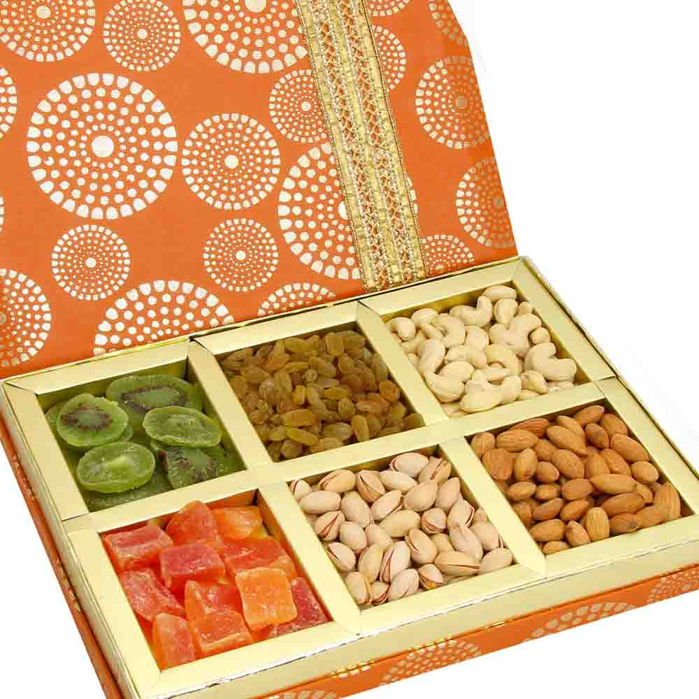 Satin 6 part Assorted Dryfruit Box