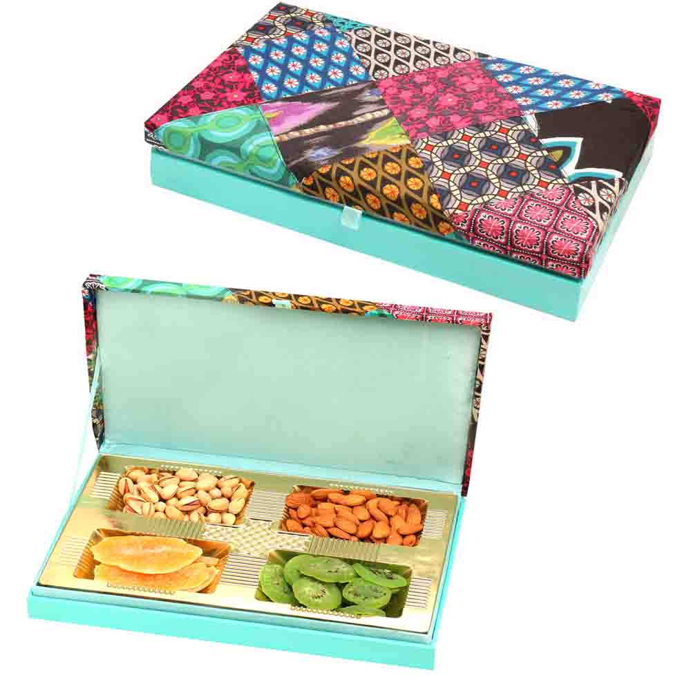 Festive Wooden Assorted Dryfruit Box 400 gms