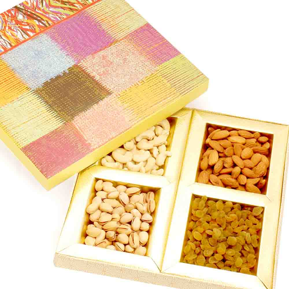 Colurful dryfruit box 400 gms