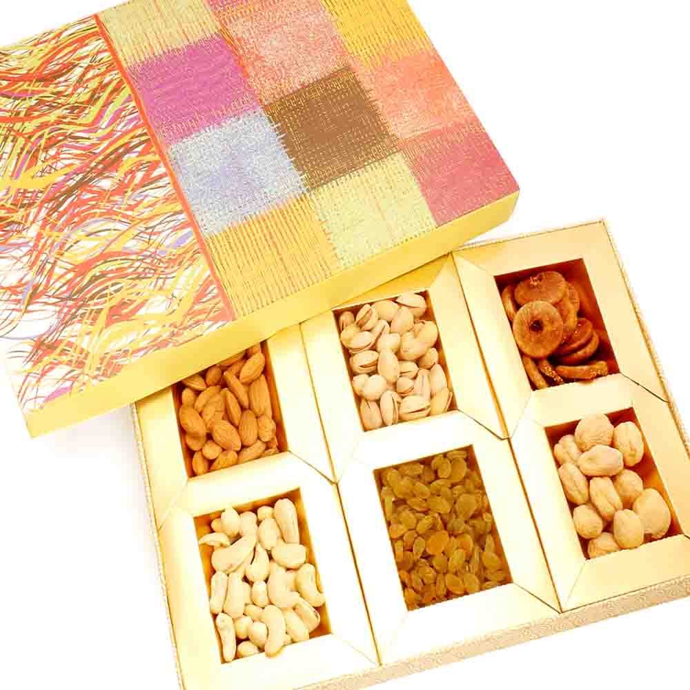 Colurful dryfruit box 300 gms