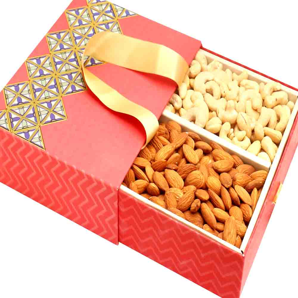 2 Part Almonds Cashews Bag Box 300 gms