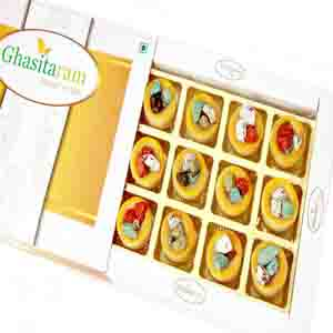 Diwali Mithai Boxes-Diwali Gifts Sweets Rock Chocolate Cups 12 pcs