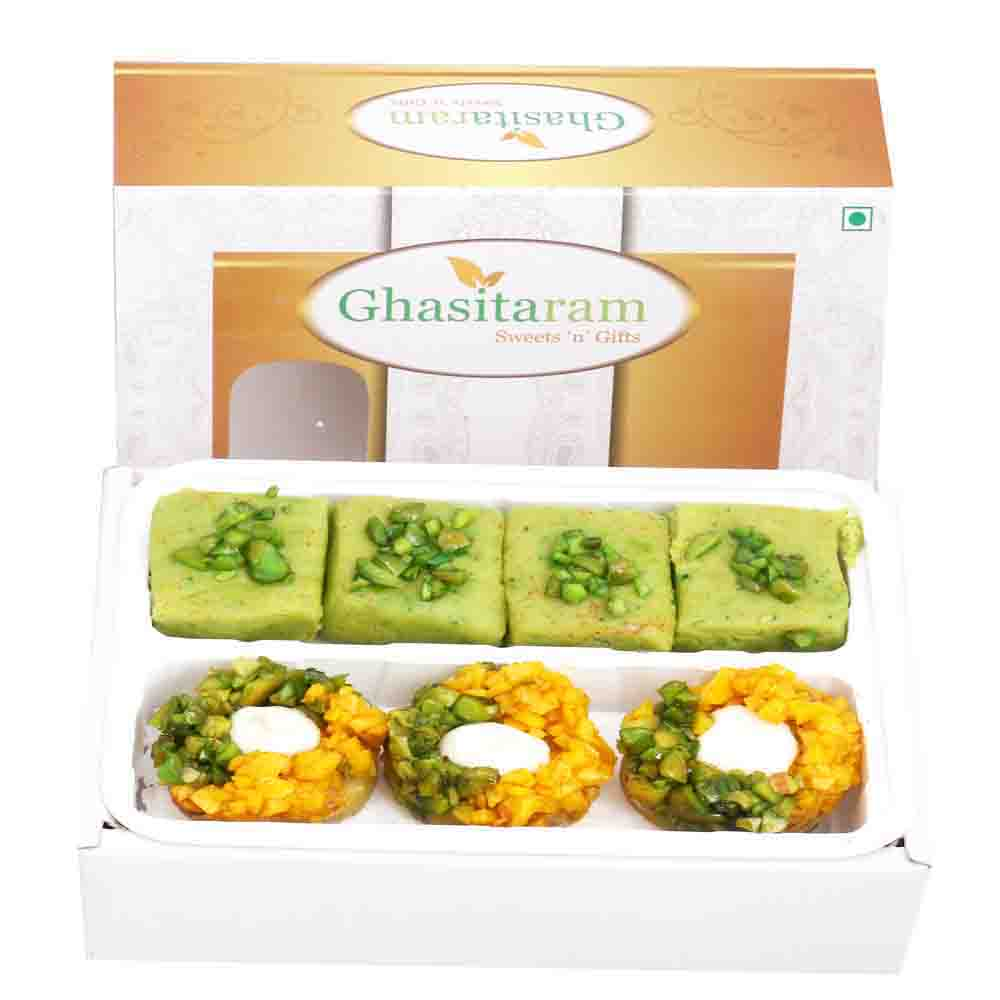 Diwali Gifts Sweets Assorted Box of Pista Barfi