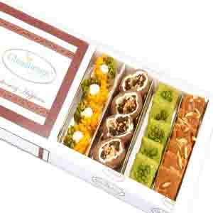 Diwali Mithai Boxes-Diwali Gifts Sweets- Assorted Box of Pista Barfi