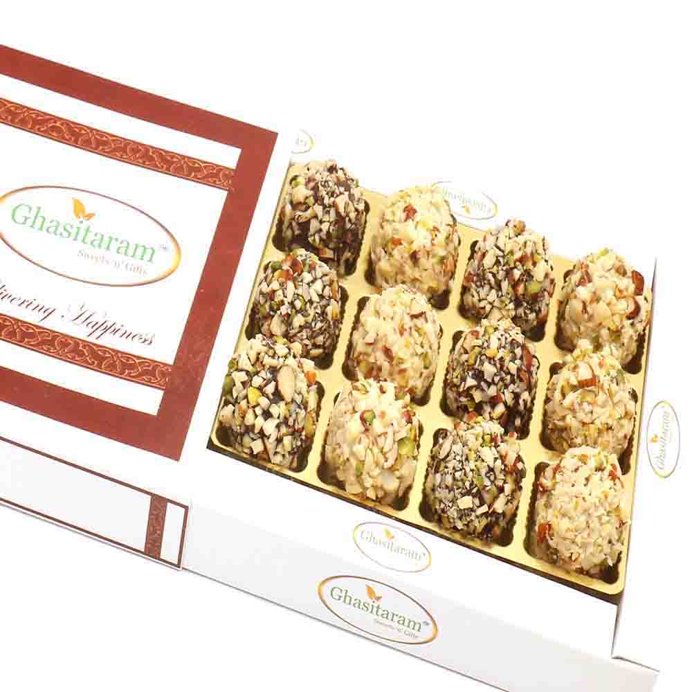 Chocolate Dryfruit Laddoos in White Box