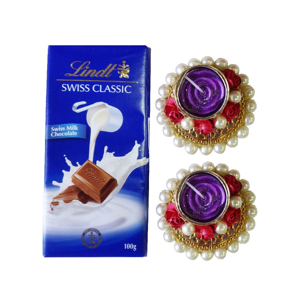 Lindt Swiss Classic Milk Chocolate Bars With 2 Tlight