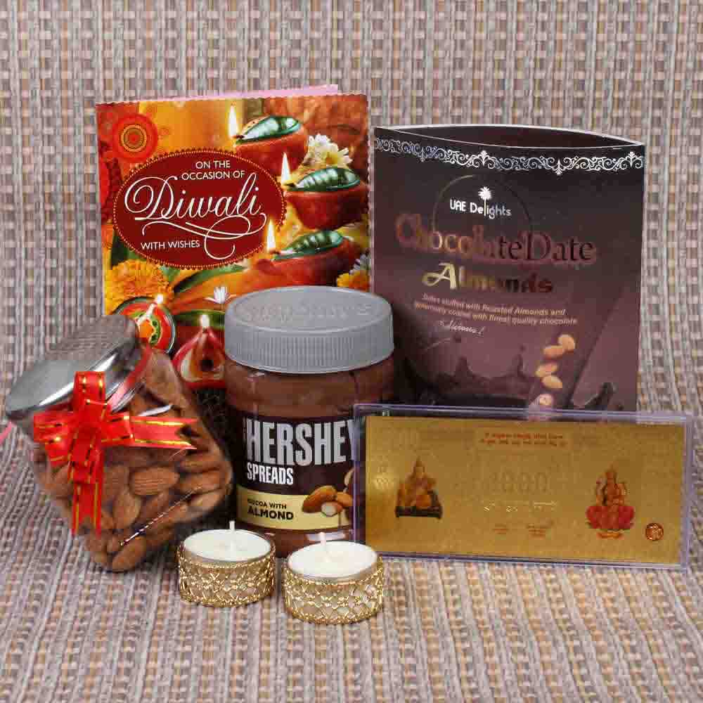 Chocolates and Almonds for Diwali Hamper